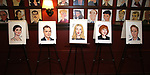 """Phillipa Soo, Marton Csokas, Uma Thurman, Blair Brown and Josh Lucas from the cast of """"The Parisian Woman"""" honored with a Sardi's Wall of Fame Portrait on February 28, 2018 at Sardi's in New York City."""