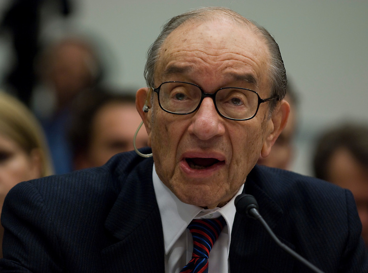 WASHINGTON, DC - Oct. 23: Former Federal Reserve Chairman Alan Greenspan during the House Oversight and Government Reform hearing on the financial crisis in the U.S. (photo by Scott J. Ferrell/Congressional Quarterly).