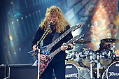 Megadeth - vocalist guitarist Dave Mustaine performing live as part of the Big Four on the Apollo Stage on Day One of the Sonisphere Festival held at Knebworth UK - 08 Jul 2011.  Photo credit: Al de Perez/IconicPix