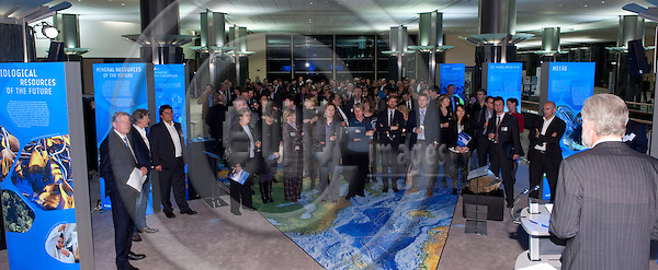 Brussels-Belgium - January 24,  2012 -- Opening of 'Our Blue Future' - exhibition at the European Parliament by KDM (Konsortium Deutsche Meeresforschung / German Maritime Research Consortium) -- Photo: Horst Wagner / eup-images