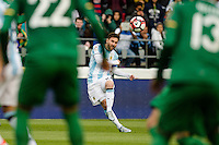 Seattle, WA - Tuesday June 14, 2016: Argentina midfielder Lionel Messi (10) takes a free kick during a Copa America Centenario Group D match between Argentina (ARG) and Bolivia (BOL) at CenturyLink Field