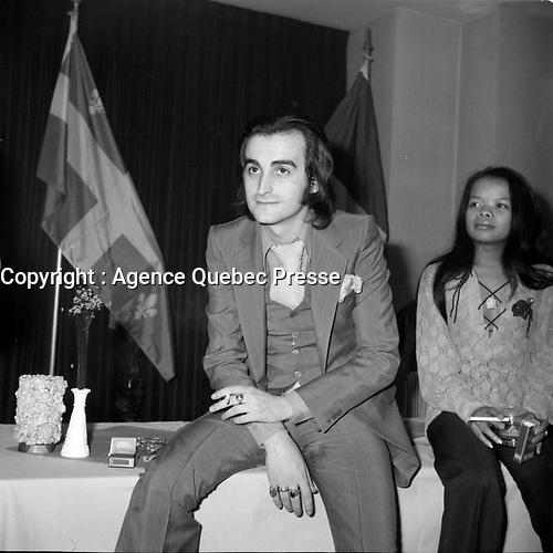 Dick Rivers au Quebec<br /> (date exacte inconnue)<br /> <br /> PHOTO : Agence Quebec Presse - Roland lachance