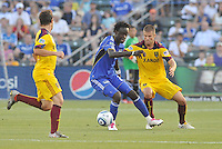 Kei Kamara...Kansas City Wizards and Real Salt Lake played to a 1-1 tie at Community America Ballpark, Kansas City, Kansas.