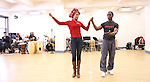 Michelle Williams & Adesola Osakalumi rehearsing for the touring company of 'FELA!'  at the Pearl Studios in New York City on 1/23/2013
