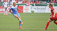 Portland, Oregon - Wednesday June 22, 2016: Chicago Red Stars midfielder Alyssa Mautz (4) during a regular season National Women's Soccer League (NWSL) match at Providence Park.