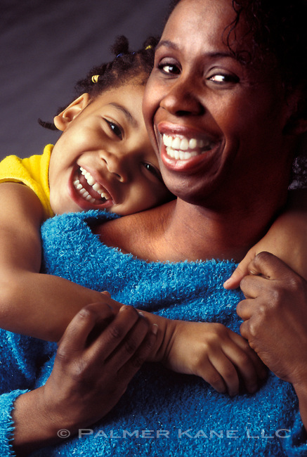 portrait of an African American mother and daughter