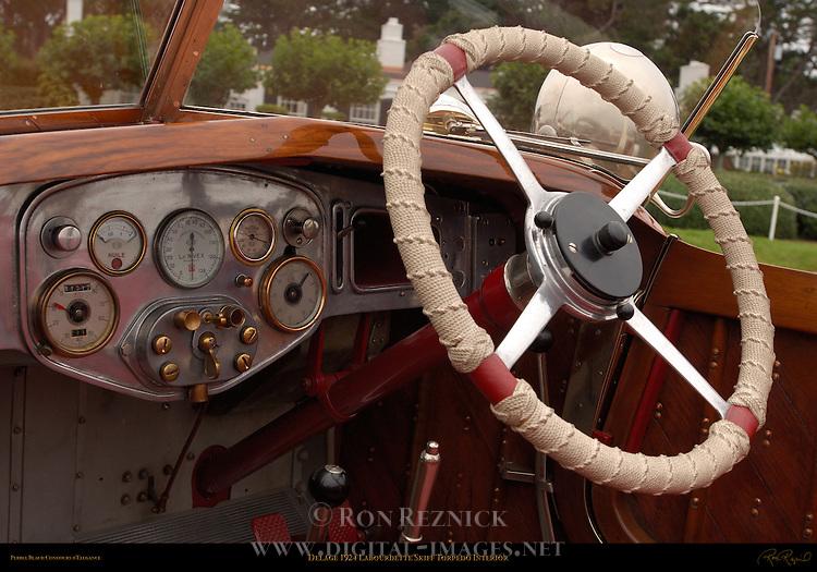 1924 Delage Labourdette Skiff Torpedo, Interior Detail, Pebble Beach Concours d'Elegance