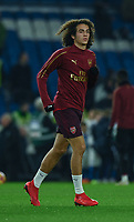 Arsenal's Matteo Guendouzi during the pre-match warmup<br /> <br /> Photographer David Horton/CameraSport<br /> <br /> The Premier League - Brighton and Hove Albion v Arsenal - Wednesday 26th December 2018 - The Amex Stadium - Brighton<br /> <br /> World Copyright © 2018 CameraSport. All rights reserved. 43 Linden Ave. Countesthorpe. Leicester. England. LE8 5PG - Tel: +44 (0) 116 277 4147 - admin@camerasport.com - www.camerasport.com