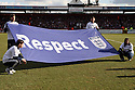 FA Respect banner. Stevenage v Tottenham Hotspur - FA Cup 5th Round - Lamex Stadium, Stevenage - 19th February 2012 . © Kevin Coleman 2012