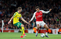 Alex Iwobi of Arsenal in action during the Carabao Cup match between Arsenal and Norwich City at the Emirates Stadium, London, England on 24 October 2017. Photo by Carlton Myrie.