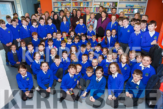 Staff and pupils at Killocrim National School opened their new library on Friday morning.