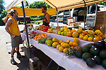 Maui, Hawaii.  The Ono Farm road side stand in Hana, Maui.