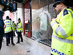 Demo march central london anarchists..Anarchist smash window at santander bank..pic by Gavin Rodgers/ Pixel 8000.07917221968