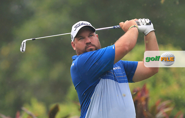 Brendon De Jonge (ZIM) on the 4th tee during Round 3 of the CIMB Classic in the Kuala Lumpur Golf &amp; Country Club on Saturday 1st November 2014.<br /> Picture:  Thos Caffrey / www.golffile.ie