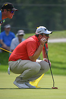 Jaco Ahlers (RSA) lines up his putt on 17 during 2nd round of the World Golf Championships - Bridgestone Invitational, at the Firestone Country Club, Akron, Ohio. 8/3/2018.<br /> Picture: Golffile | Ken Murray<br /> <br /> <br /> All photo usage must carry mandatory copyright credit (&copy; Golffile | Ken Murray)