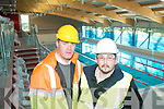 POOL: John Purcell (Resident Engineer) and Gareth Spillane (Clerk of Works) inspect the progress of the swimming pool in the new Killarney Sport and Leisure Centre which is nearing completion.   Copyright Kerry's Eye 2008