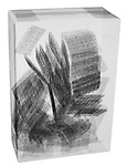 X-ray image of a box of wheat crackers (black on white) by Jim Wehtje, specialist in x-ray art and design images.