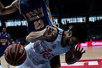 SPAIN, Madrid: Real Madrid's Argentine player Facundo Campazzo during the Liga Endesa Basket 2014/15 match between Real Madrid and Ucam Murcia, at Palacio de los Deportes in Madrid on November 16, 2014. /NortePhoto<br />