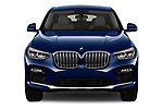 Car photography straight front view of a 2020 BMW X4 xDrive30i 5 Door SUV