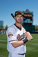 Sacramento River Cats outfielder Steven Duggar (14) poses for a photo before a Pacific Coast League game against the Tacoma Rainiers at Raley Field on May 15, 2018 in Sacramento, California. Tacoma defeated Sacramento 8-5. (Zachary Lucy/Four Seam Images)