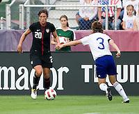 Abby Wambach, Azusa Iwashimizu. The USWNT defeated Japan, 2-0,  at WakeMed Soccer Park in Cary, NC.