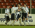 27/11/2004  Copyright Pic : James Stewart.File Name : jspa17_falkirk_v_ross_county.STUART MALCOLM CELEBRATES AFTER HE SCORES COUNTY'S EQUALISING SECOND GOAL......Payments to :.James Stewart Photo Agency 19 Carronlea Drive, Falkirk. FK2 8DN      Vat Reg No. 607 6932 25.Office     : +44 (0)1324 570906     .Mobile   : +44 (0)7721 416997.Fax         : +44 (0)1324 570906.E-mail  :  jim@jspa.co.uk.If you require further information then contact Jim Stewart on any of the numbers above.........