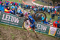 Picture by Alex Whitehead/SWpix.com - 03/02/2018 - Cycling - 2018 UCI Cyclo-Cross World Championships - Valkenburg, The Netherlands - Great Britain's Sean Flynn competes in the Junior Men's race.
