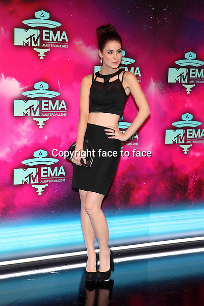 AMSTERDAM - Lena Meyer-Landrut at the MTV Europe Music Awards 2013 at the Ziggodome in Amsterdam.<br /> Credit: Saskia Bagchus/All Access/face to face<br /> - No Rights for Belgium, Luxembourg and Netherlands -