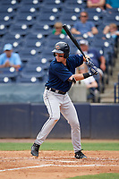 Lakeland Flying Tigers third baseman Chad Sedio (20) at bat during a game against the Tampa Tarpons on April 8, 2018 at George M. Steinbrenner Field in Tampa, Florida.  Lakeland defeated Tampa 3-1.  (Mike Janes/Four Seam Images)