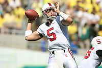 2 September 2006: Trent Edwards during Stanford's 48-10 loss to the Oregon Ducks at Autzen Stadium in Eugene, OR.