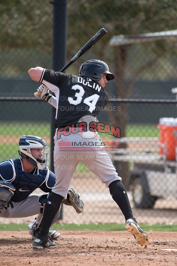 Chicago White Sox first baseman Brandon Dulin (34) during a Minor League Spring Training game against the Chicago White Sox at Camelback Ranch on March 16, 2018 in Glendale, Arizona. (Zachary Lucy/Four Seam Images)