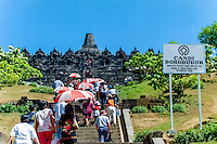 Java, Central Java, Borobodur. Borobudur is a 9th-century Buddhist monument near Magelang, Central Java. Borobodur is on the UNESCO World Heritage List.