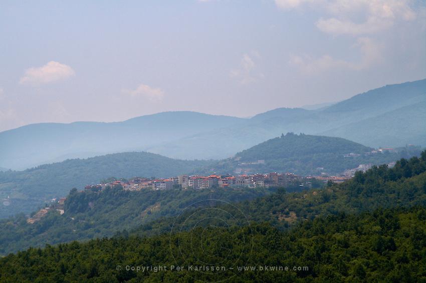View to Naoussa. Kir-Yianni Winery, Yianakohori, Naoussa, Macedonia, Greece