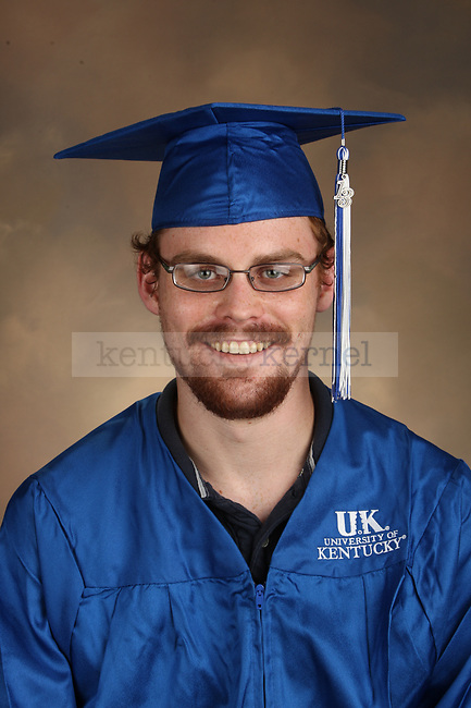 Mattingly, Jesse graduation portrait taken at the fall Grad Salute at the University of Kentucky in Lexington, Ky., on 10/1/13.