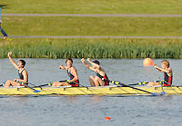 Eton,  GREAT BRITAIN. Championship Boy's Quadruple scull, Sir William Borlase's School, celebrate after winning the final. Eton Schools' Regatta, Eton Rowing Centre, Dorney Lake. [Finish of cancelled National Schools Regatta], Saturday, 07/06/2008  [Mandatory Credit:  Peter SPURRIER / Intersport Images].Crew,  J.CLEGG, L.CLEGG, T. WRIGHT, M. BEDFORD. Rowing Courses, Dorney Lake, Eton. ENGLAND