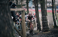 'Best of the rest' Laurens Sweeck (BEL/Era-Circus) following the dynamic duo (van der Poel &amp; Van Aert) in 3rd<br /> <br /> Elite Men's Race<br /> GP Sven Nys / Belgium 2018