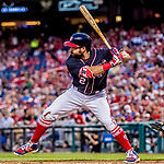 28 April 2017: Washington Nationals outfielder Adam Eaton at bat against the New York Mets at Nationals Park in Washington, DC. The Mets defeated the Nationals 7-5 to take the first game of their 3-game weekend series. Mandatory Credit: Ed Wolfstein Photo *** RAW (NEF) Image File Available ***