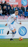 Piotr Zielinski  during the  italian serie a soccer match,between SSC Napoli and Torino       at  the San  Paolo   stadium in Naples  Italy , December 18, 2016