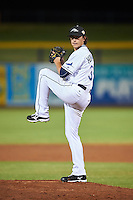 Peoria Javelinas pitcher Brent Honeywell (31), of the Tampa Bay Rays organization, during a game against the Glendale Desert Dogs on October 18, 2016 at Peoria Stadium in Peoria, Arizona.  Peoria defeated Glendale 6-3.  (Mike Janes/Four Seam Images)