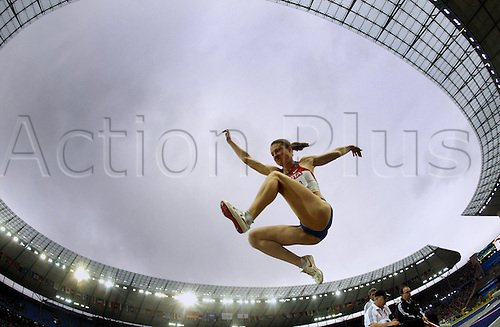 Russian Elena Sokolova competes in the long jump qualification at the 12th IAAF World Championships in Athletics, Berlin, Germany, 21 August 2009. Photo: Kay Nietfeld/actionplus