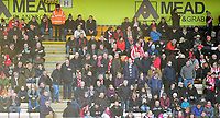 Lincoln City fans enjoy the pre-match atmosphere<br /> <br /> Photographer Andrew Vaughan/CameraSport<br /> <br /> The EFL Sky Bet League Two - Cambridge United v Lincoln City - Saturday 29th December 2018  - Abbey Stadium - Cambridge<br /> <br /> World Copyright © 2018 CameraSport. All rights reserved. 43 Linden Ave. Countesthorpe. Leicester. England. LE8 5PG - Tel: +44 (0) 116 277 4147 - admin@camerasport.com - www.camerasport.com