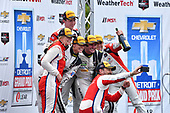 IMSA WeatherTech SportsCar Championship<br /> Chevrolet Sports Car Classic<br /> Detroit Belle Isle Grand Prix, Detroit, MI USA<br /> Saturday 3 June 2017<br /> 63, Ferrari, Ferrari 488 GT3, GTD, Alessandro Balzan, Christina Nielsen, 93, Acura, Acura NSX, GTD, Andy Lally, Katherine Legge, 48, Lamborghini, Lamborghini Huracan GT3, GTD, Bryan Sellers, Madison Snow<br /> World Copyright: Richard Dole<br /> LAT Images<br /> ref: Digital Image RD_DTW_17_0407