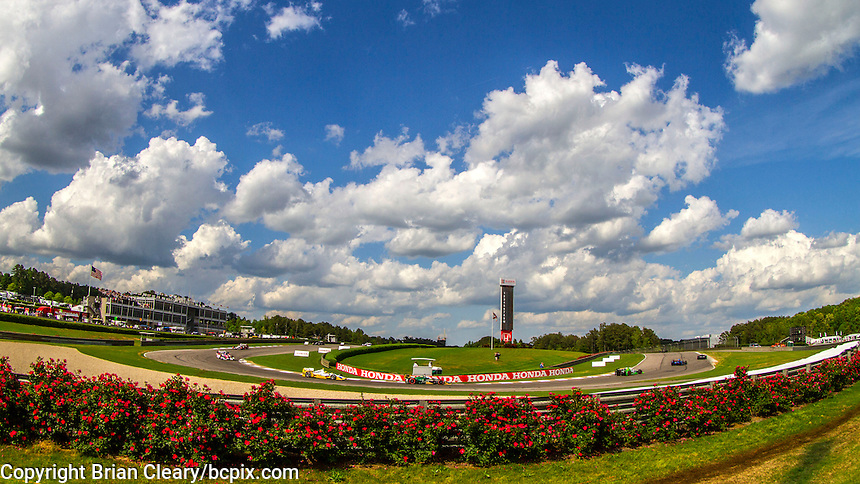 Flowers and clouds, Indy Grand Prix of Alabama, Barber Motorsports Park, Birmingham, AL, April 2015.  (Photo by Brian Cleary/bcpix Cleary / www.bcpix.com )
