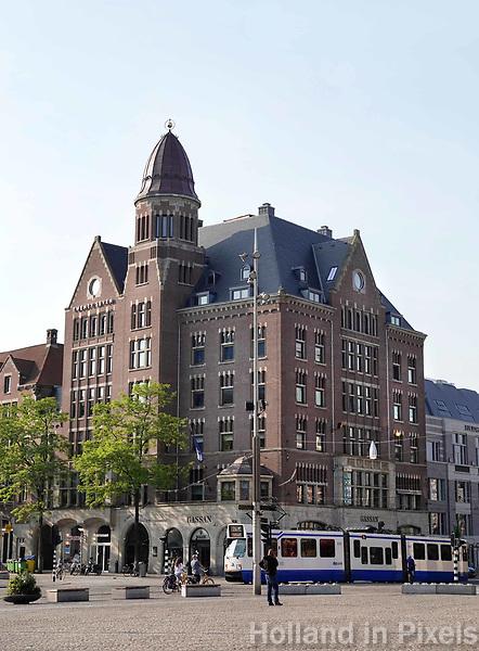 Nederland - Amsterdam - 2018.  Monumentaal pand aan de Dam / Het Rokin. In het pand is o.a. Gassan Diamonds gevestigd.   Foto Berlinda van Dam / Hollandse Hoogte.