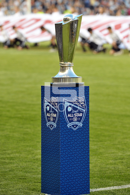 Sporting Park, Kansas City, Kansas, July 31 2013:<br /> MLS All-Star trophy.<br /> MLS All-Stars were defeated 3-1 by AS Roma at Sporting Park, Kansas City, KS in the 2013 AT & T All-Star game.