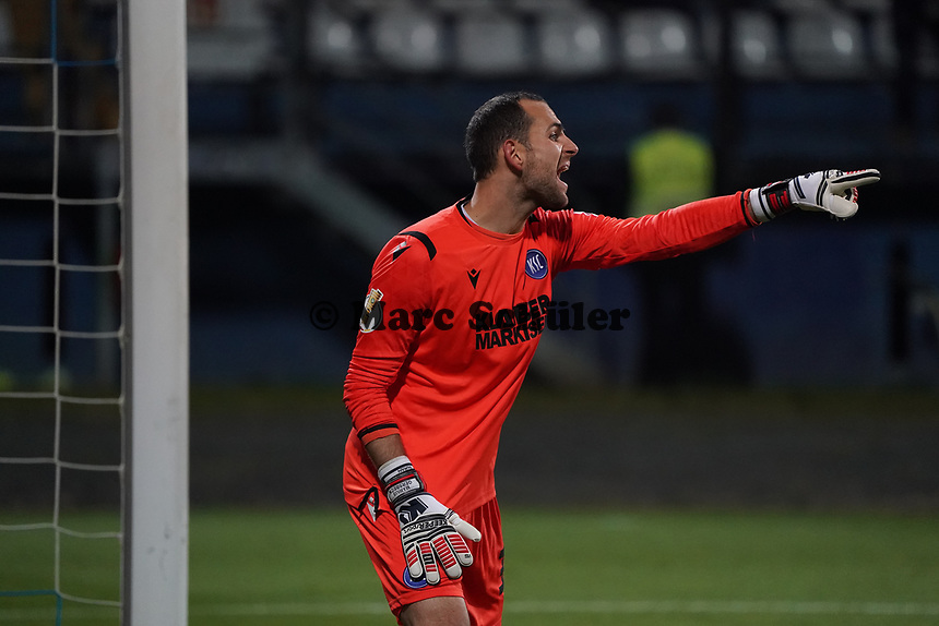 Torwart Marius Gersbeck (Karlsruher SC) - 29.10.2019: SV Darmstadt 98 vs. Karlsruher SC, Stadion am Boellenfalltor, 2. Runde DFB-Pokal<br /> DISCLAIMER: <br /> DFL regulations prohibit any use of photographs as image sequences and/or quasi-video.