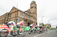 Picture by Allan McKenzie/SWpix.com - 15/05/2018 - Cycling - OVO Energy Tour Series Womens Race - Round 2:Motherwell - The peloton through Motherwell.