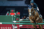 Jane Richard Philips of Switzerland rides Zekina Z in action at the Gucci Gold Cup during the Longines Hong Kong Masters 2015 at the AsiaWorld Expo on 14 February 2015 in Hong Kong, China. Photo by Xaume Olleros / Power Sport Images
