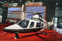 """- Milan, Trade Fair of Italian Quality,  Finmeccanica stand, helicopter Agusta 109s """"Grand""""....- Milano, Fiera Campionaria delle Qualità Italiane, stand Finmeccanica, elicottero Agusta 109 S """"Grand"""""""