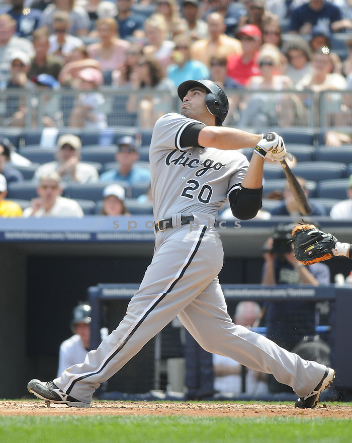CARLOS QUENTIN, of the Chicago White Sox, in action during the  White Sox game against the New York Yankees  at  Yankee Stadium  on May 1, 2010...The White Sox win 7-6.